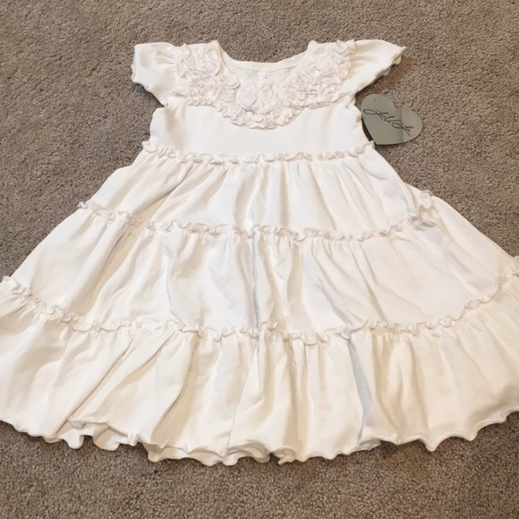 love u lots Other - Girls 3T white ruffled soft dress